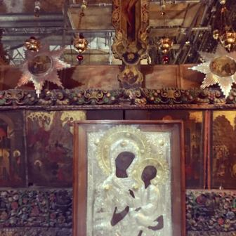 #Mary and #Jesus #darkmother #Church of Annunciation #mother and child